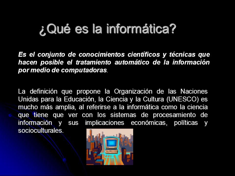 ¿Qué es la informática