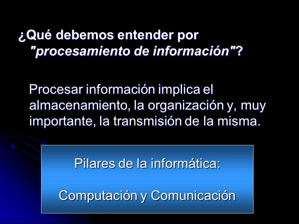 ¿Qué debemos entender por procesamiento de información