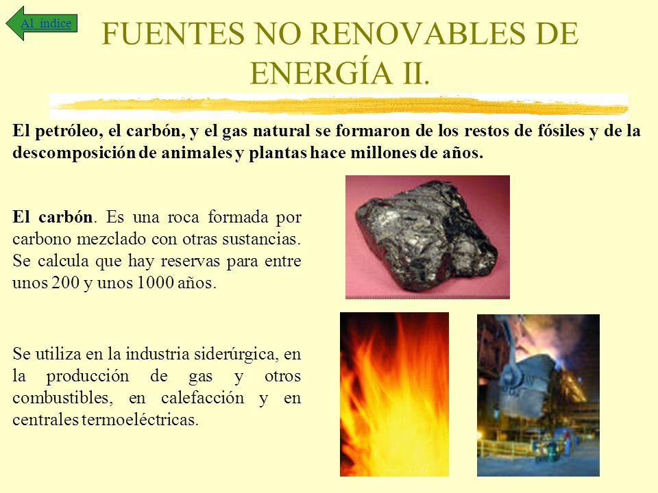 FUENTES NO RENOVABLES DE ENERGÍA II.