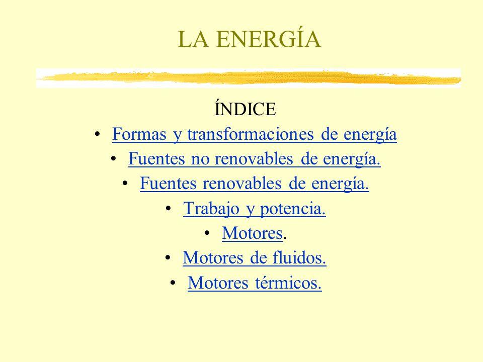 LA ENERGÍA ÍNDICE Formas y transformaciones de energía