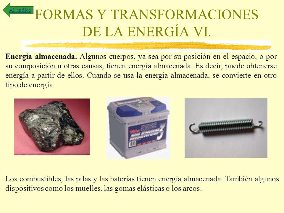 FORMAS Y TRANSFORMACIONES DE LA ENERGÍA VI.