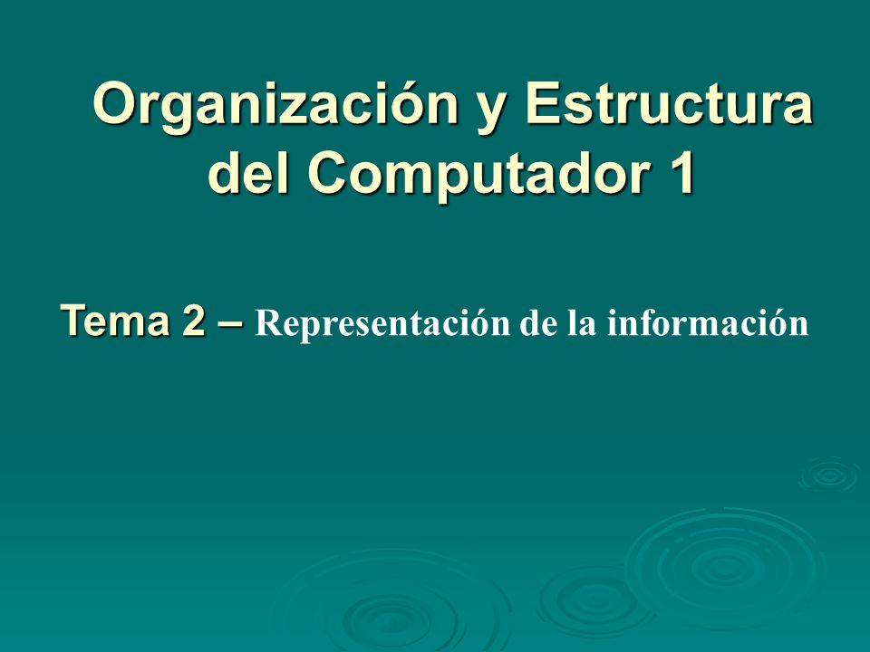 Organización y Estructura del Computador 1