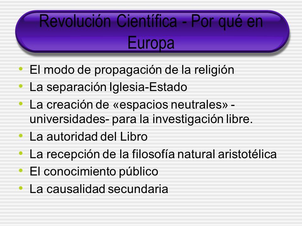 Revolución Científica - Por qué en Europa
