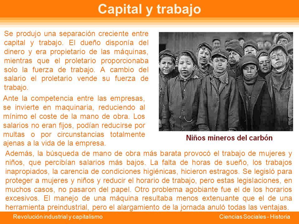 Capital y trabajo