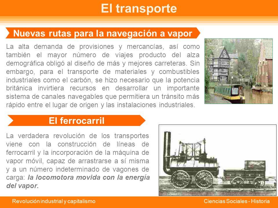 Nuevas rutas para la navegación a vapor