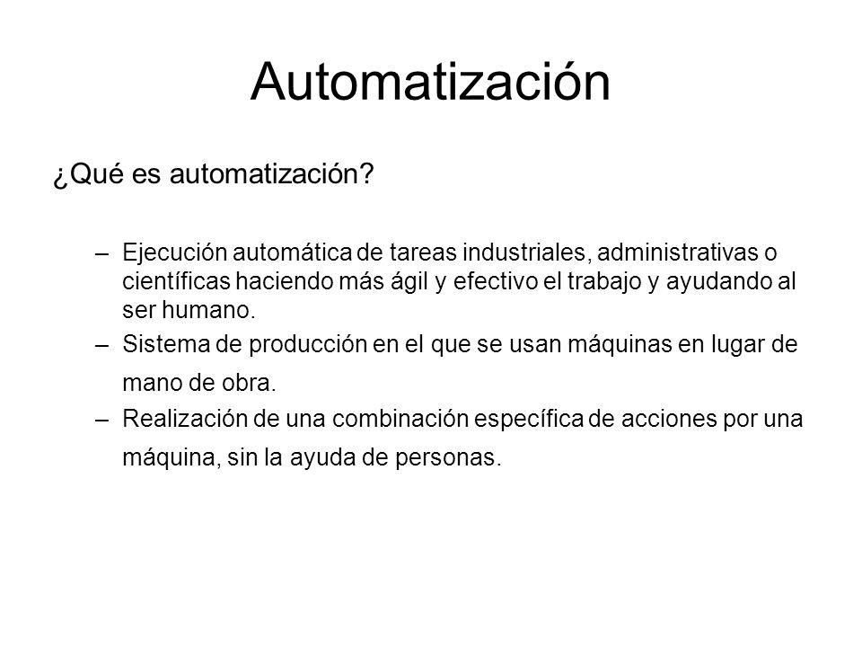Automatización ¿Qué es automatización