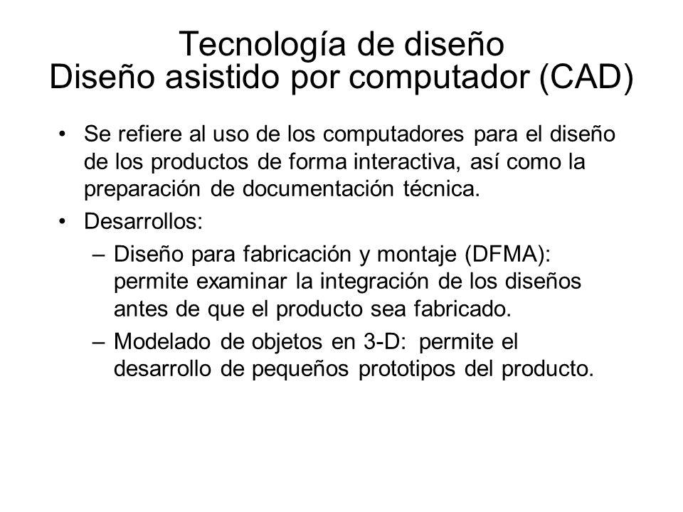Tecnología de diseño Diseño asistido por computador (CAD)