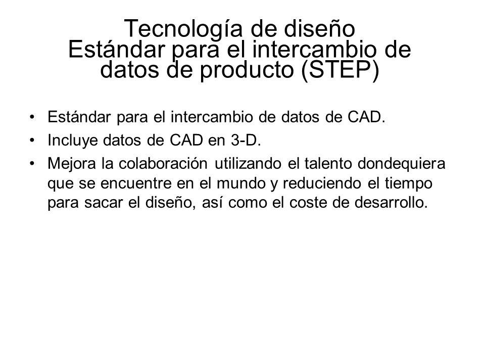 Tecnología de diseño Estándar para el intercambio de datos de producto (STEP)