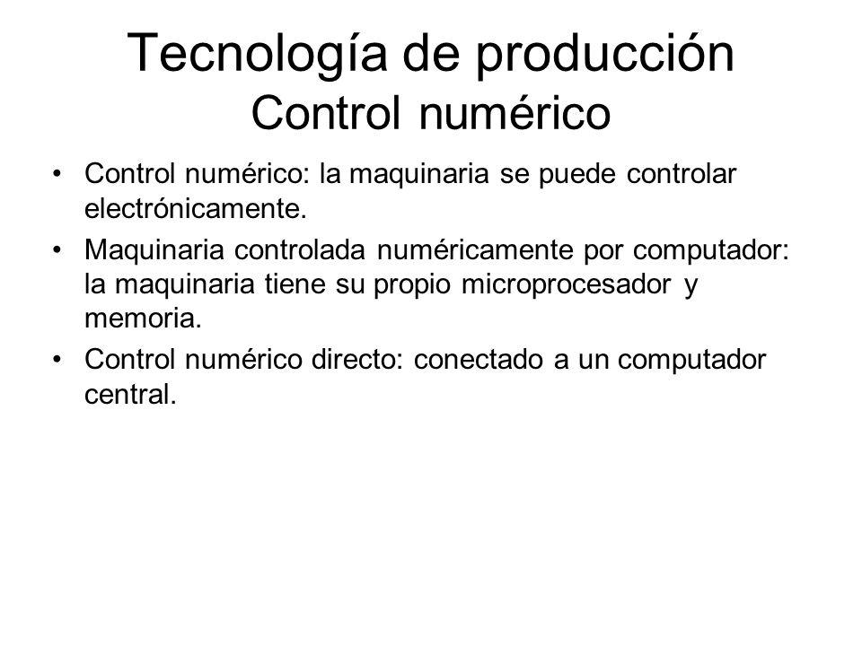 Tecnología de producción Control numérico