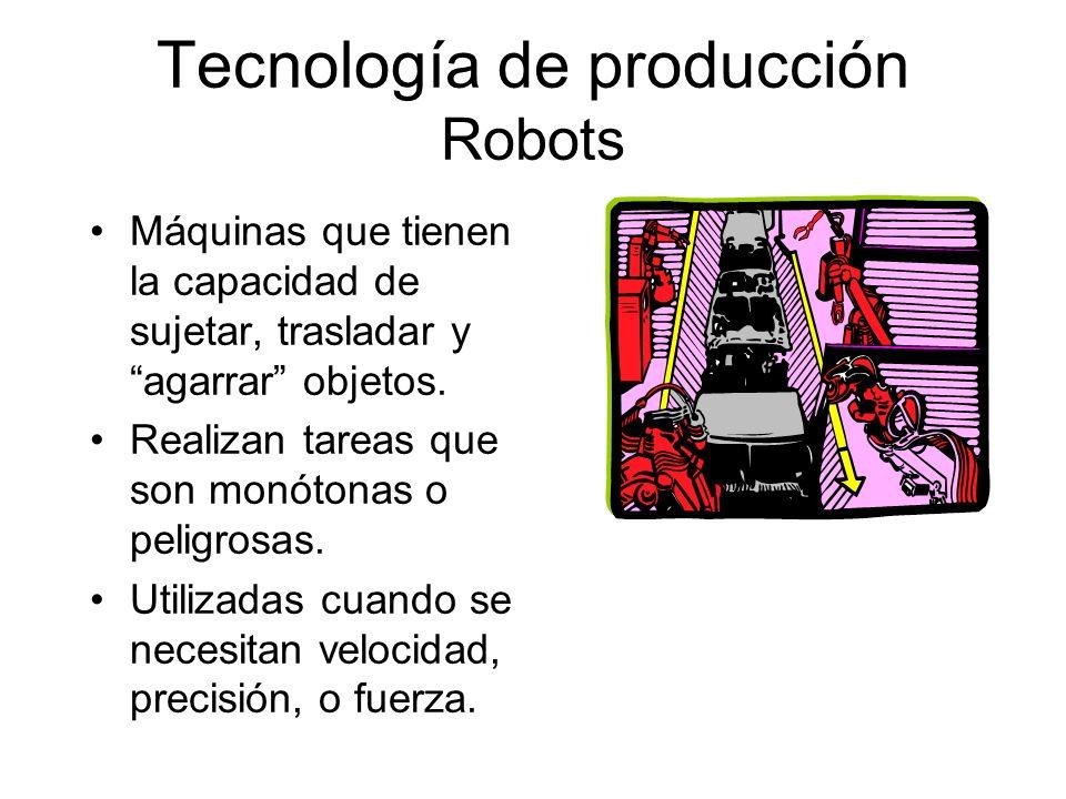 Tecnología de producción Robots