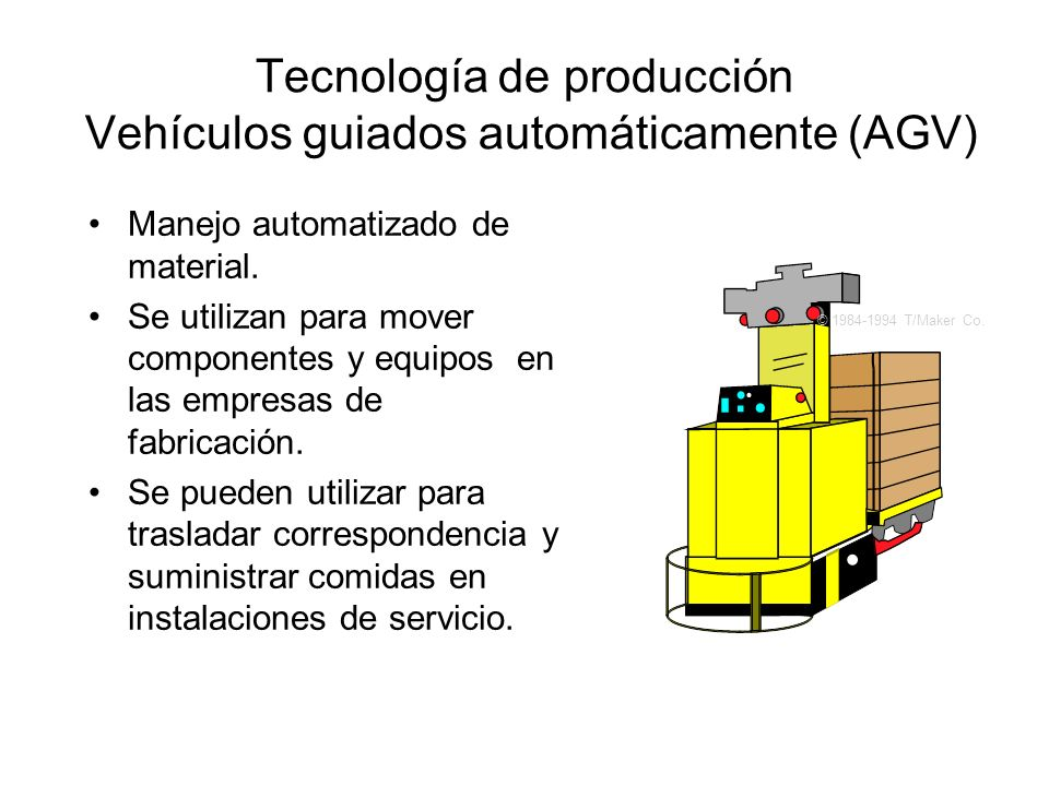 Tecnología de producción Vehículos guiados automáticamente (AGV)