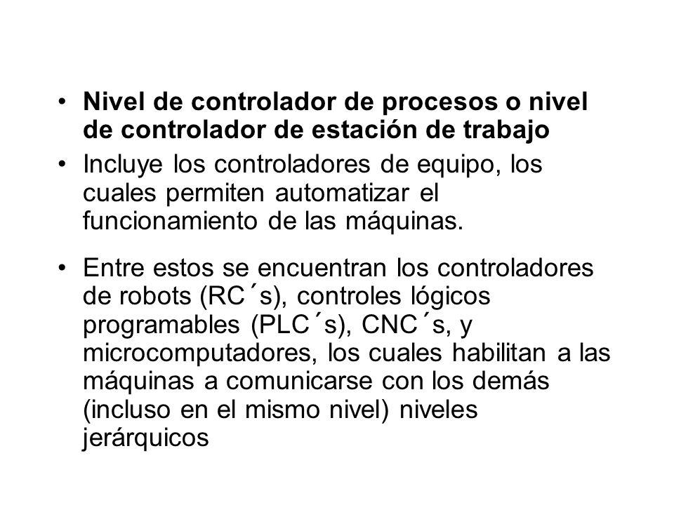 Nivel de controlador de procesos o nivel de controlador de estación de trabajo