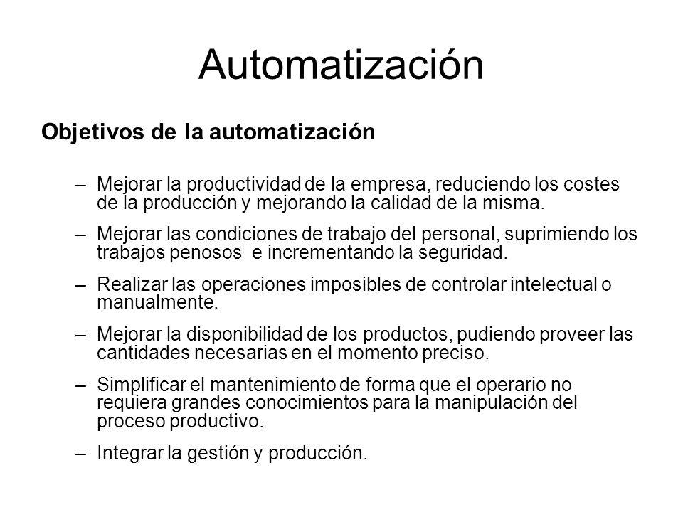 Automatización Objetivos de la automatización