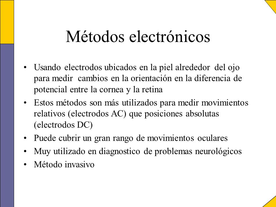 Métodos electrónicos