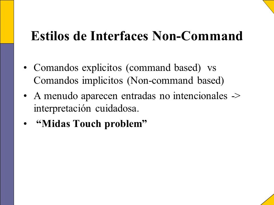 Estilos de Interfaces Non-Command