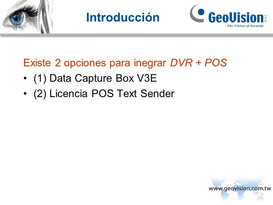 Introducción Existe 2 opciones para inegrar DVR + POS