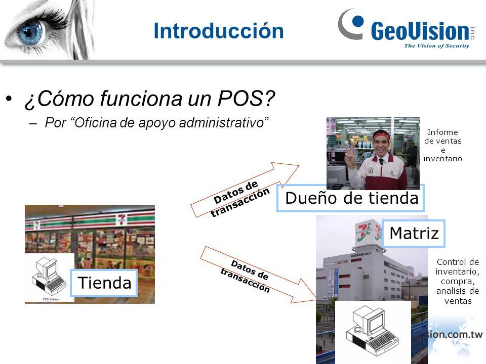Introducción ¿Cómo funciona un POS Dueño de tienda Matriz Tienda