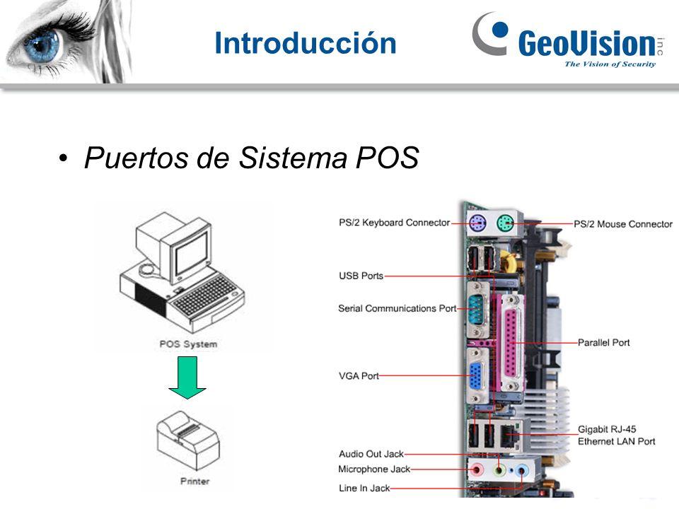 Introducción Puertos de Sistema POS