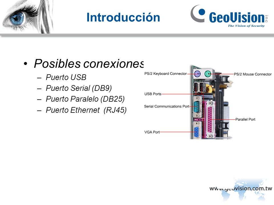 Posibles conexiones de impresora
