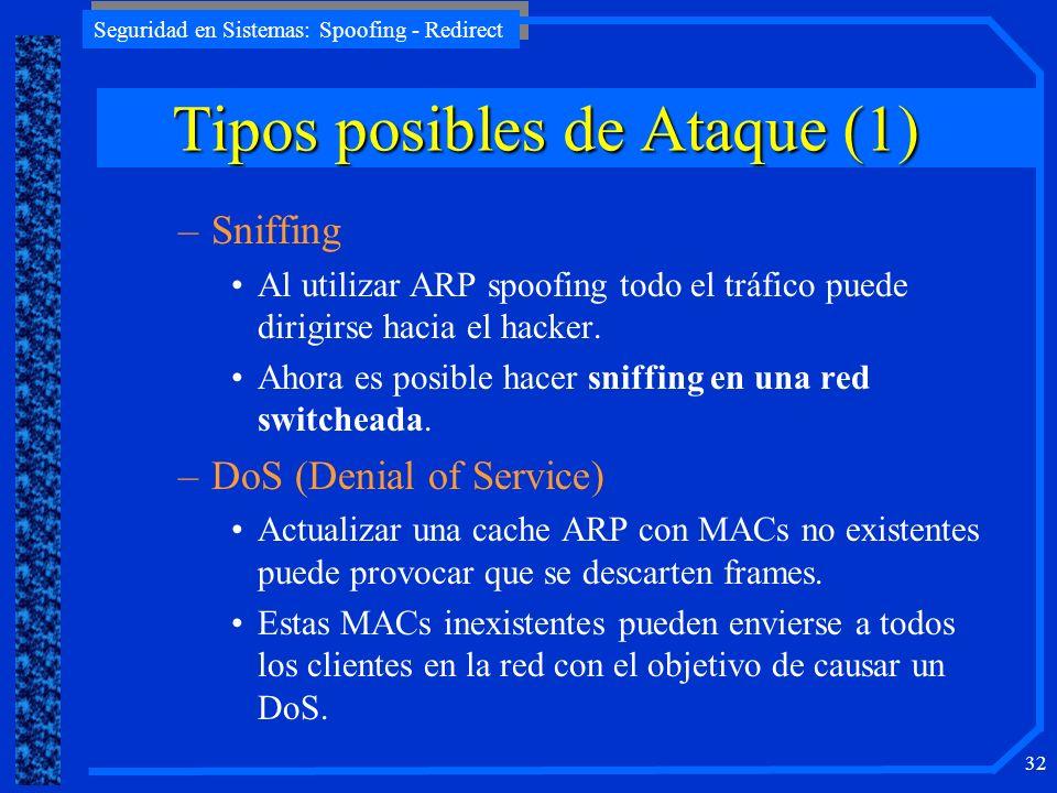 Tipos posibles de Ataque (1)