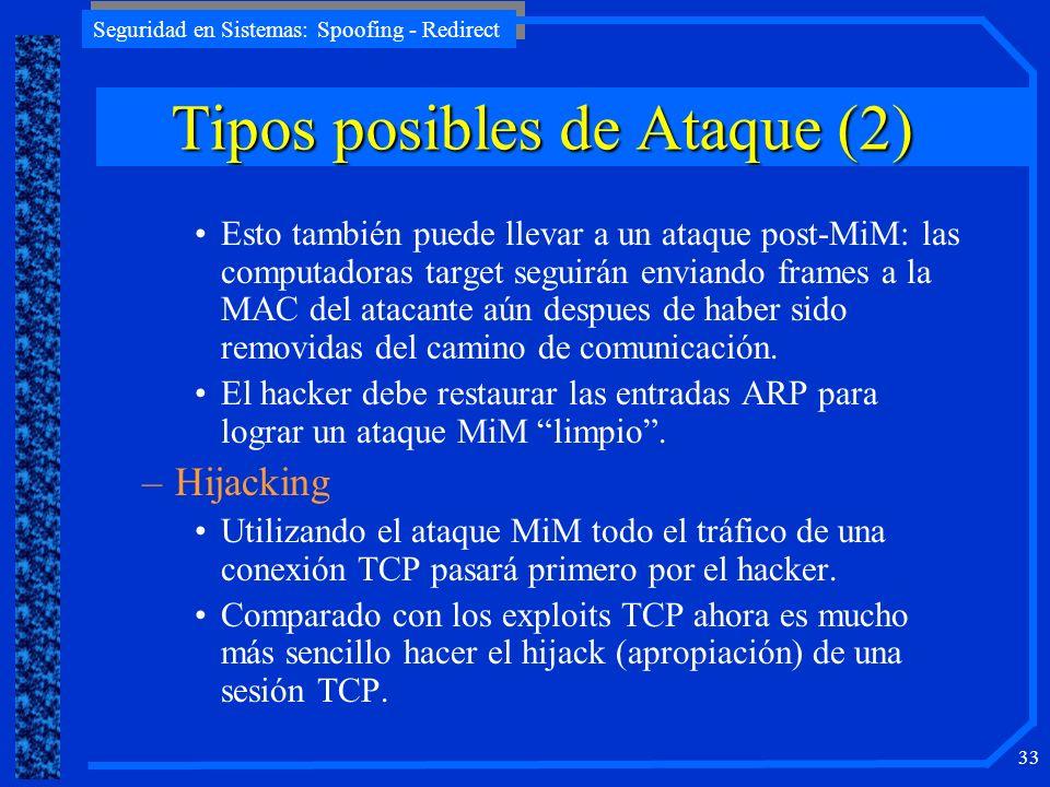 Tipos posibles de Ataque (2)