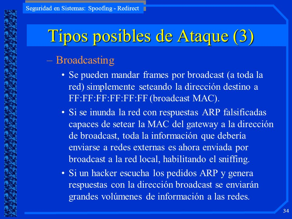 Tipos posibles de Ataque (3)