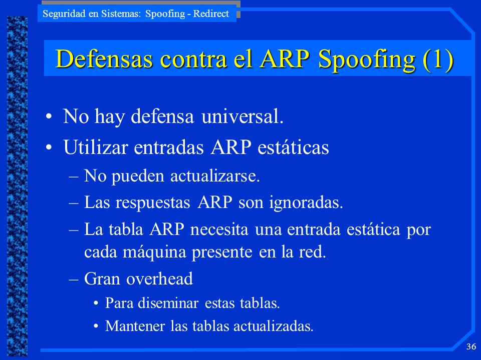 Defensas contra el ARP Spoofing (1)