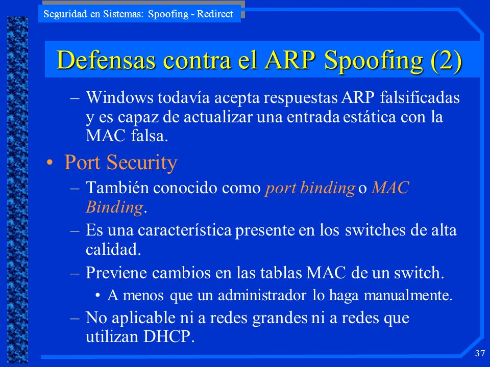 Defensas contra el ARP Spoofing (2)