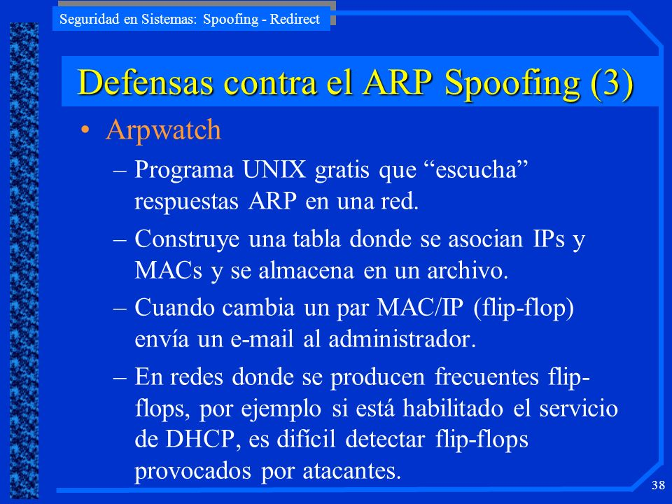 Defensas contra el ARP Spoofing (3)