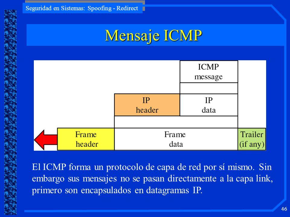 Mensaje ICMP