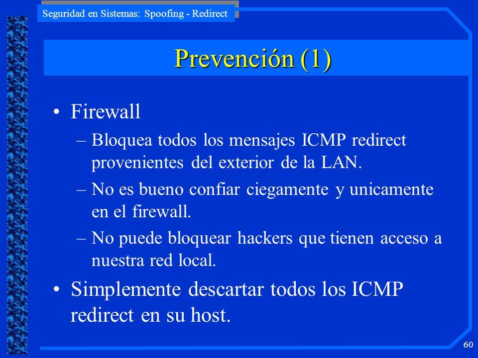 Prevención (1) Firewall