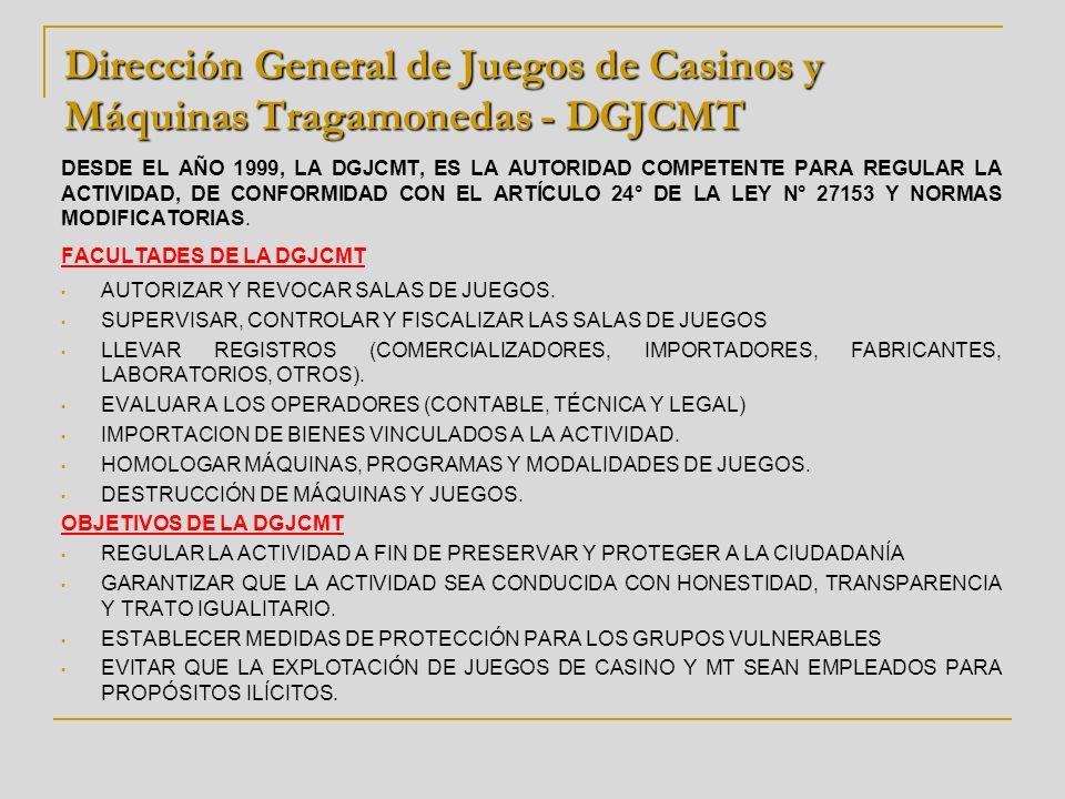 Dirección General de Juegos de Casinos y Máquinas Tragamonedas - DGJCMT