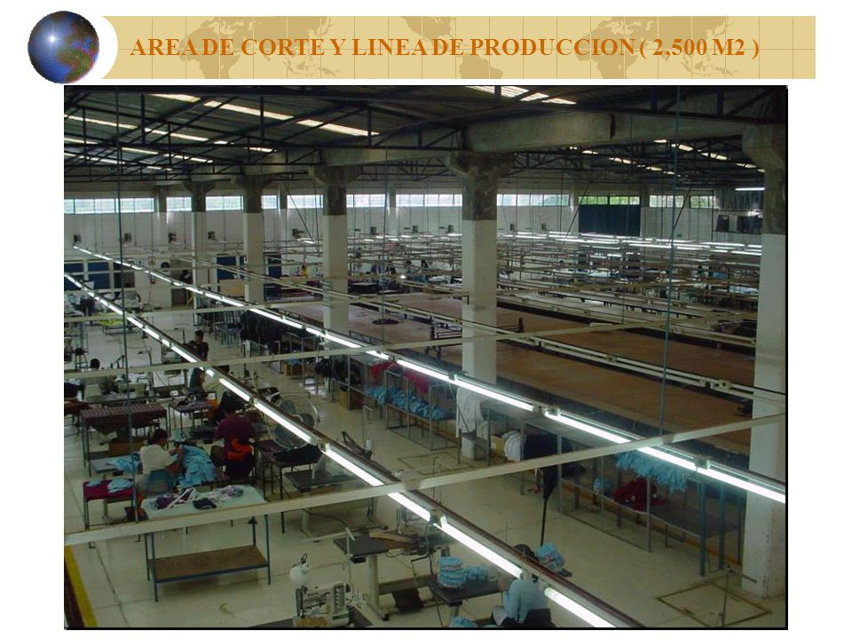 AREA DE CORTE Y LINEA DE PRODUCCION ( 2,500 M2 )