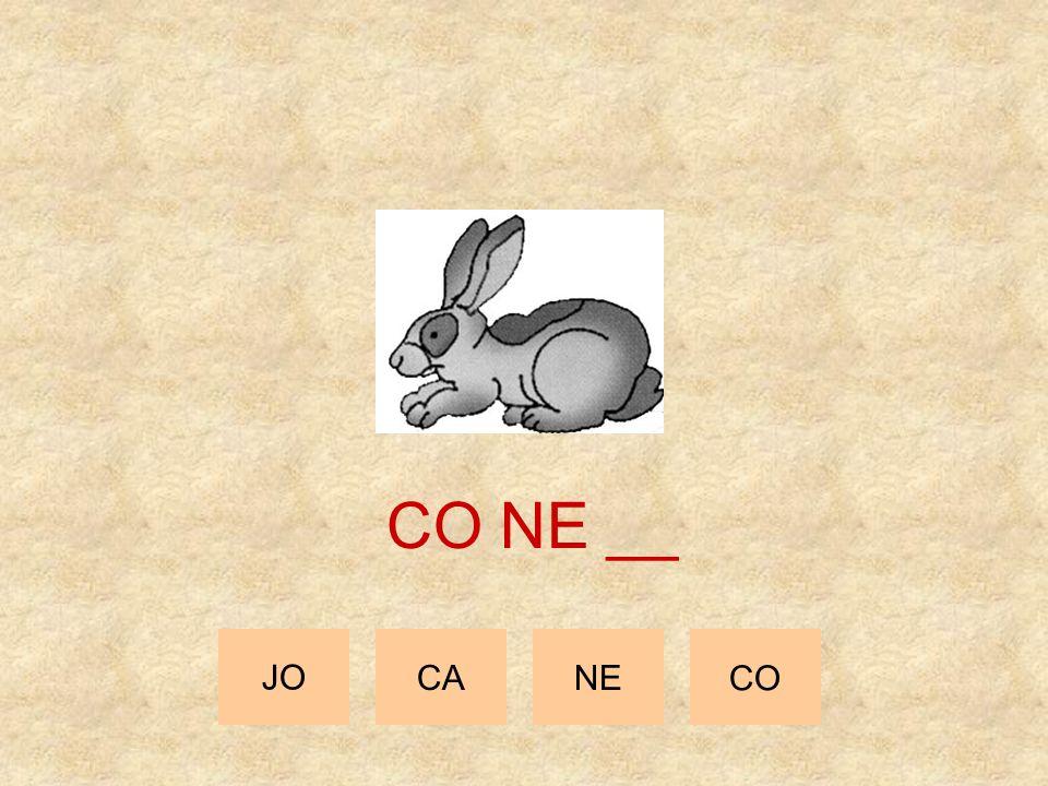 CO NE __ JO CA NE CO