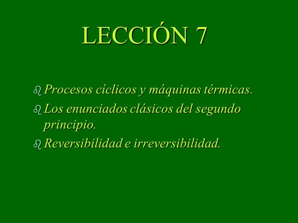 LECCIÓN 7 Procesos cíclicos y máquinas térmicas.