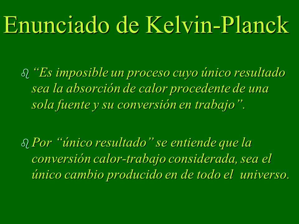 Enunciado de Kelvin-Planck
