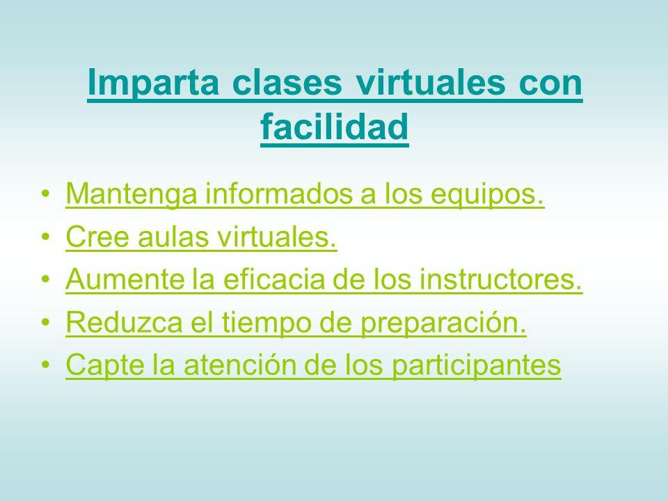 Imparta clases virtuales con facilidad