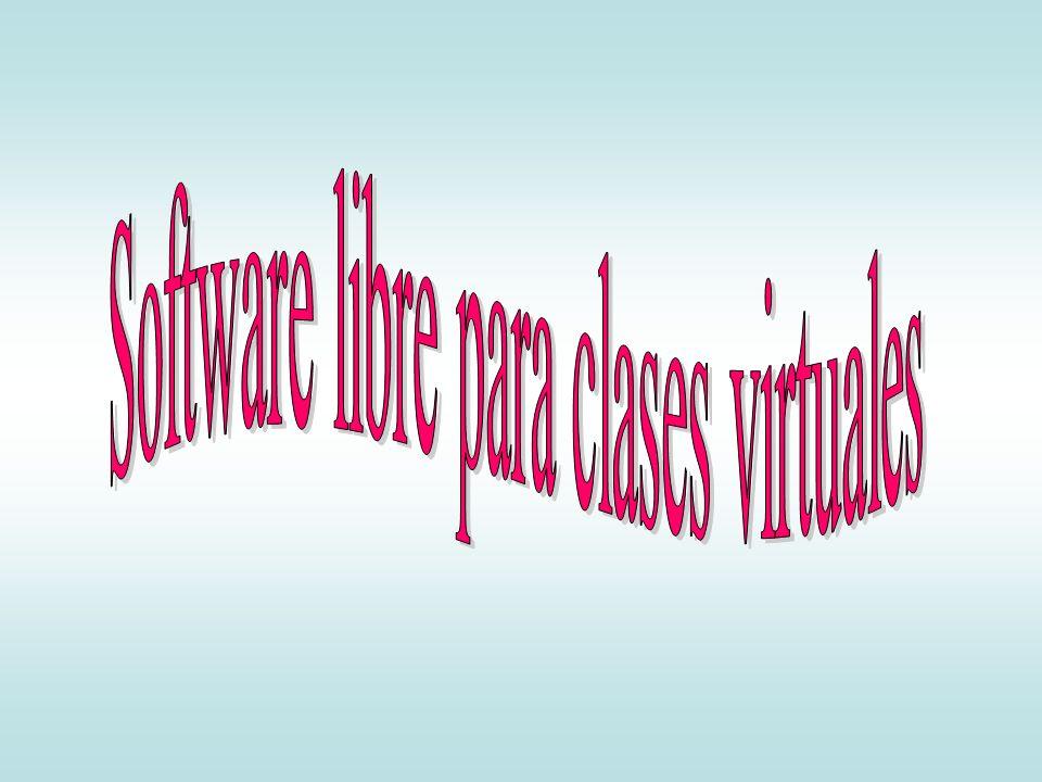 Software libre para clases virtuales