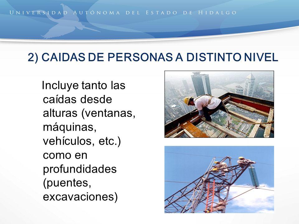 2) CAIDAS DE PERSONAS A DISTINTO NIVEL