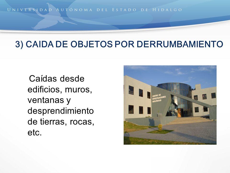 3) CAIDA DE OBJETOS POR DERRUMBAMIENTO