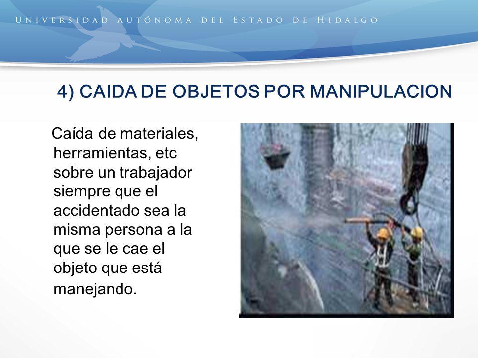 4) CAIDA DE OBJETOS POR MANIPULACION