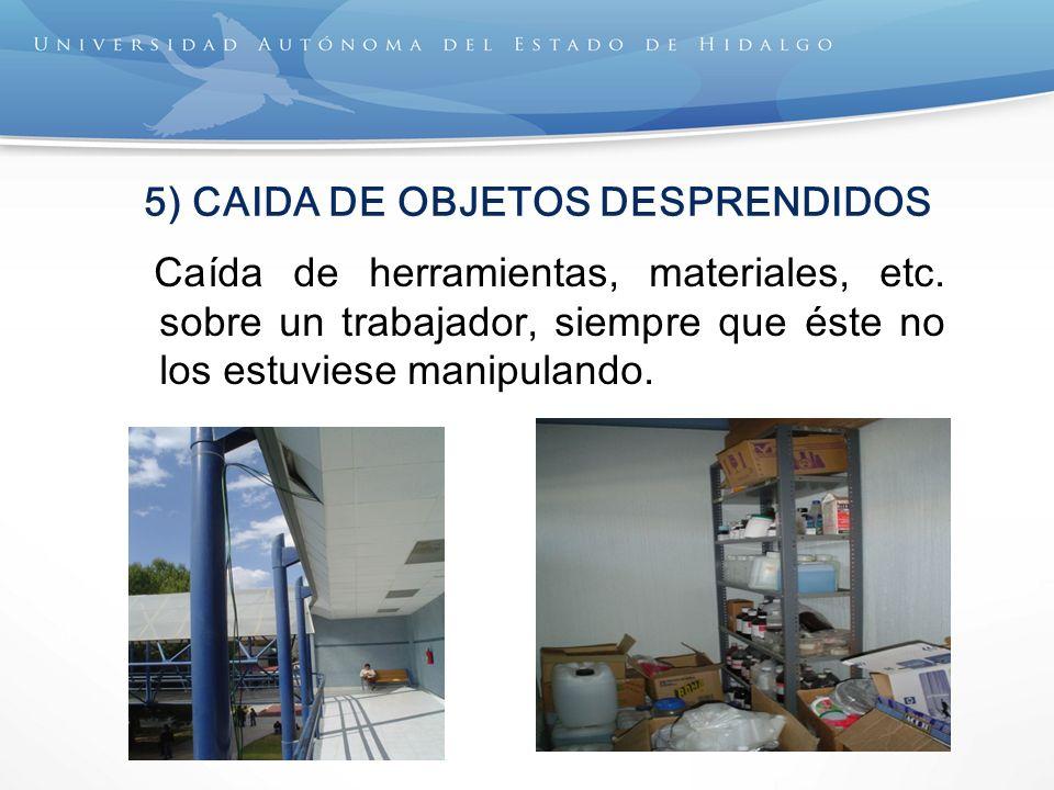 5) CAIDA DE OBJETOS DESPRENDIDOS