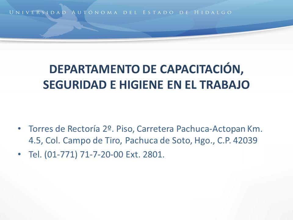DEPARTAMENTO DE CAPACITACIÓN, SEGURIDAD E HIGIENE EN EL TRABAJO