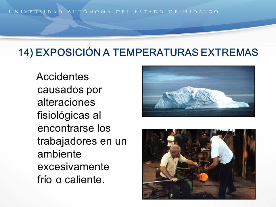 14) EXPOSICIÓN A TEMPERATURAS EXTREMAS
