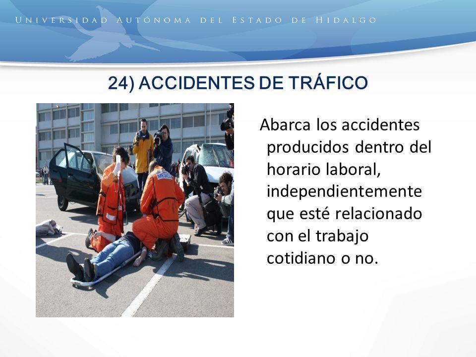 24) ACCIDENTES DE TRÁFICO
