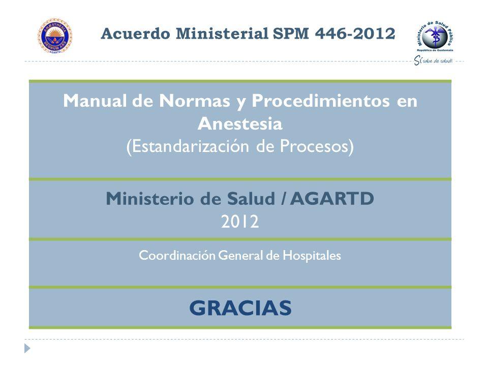 Acuerdo Ministerial SPM 446-2012