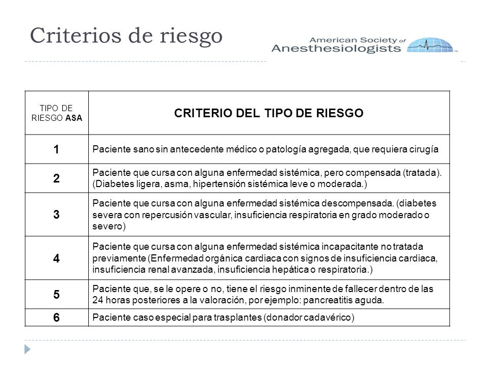 CRITERIO DEL TIPO DE RIESGO