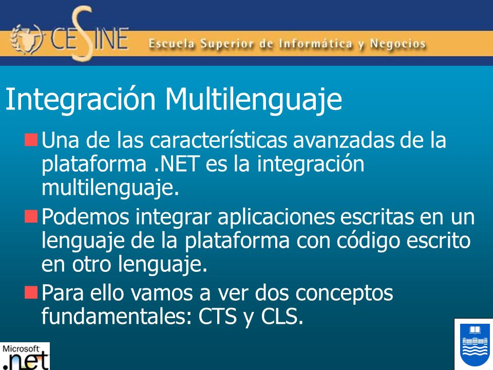 Integración Multilenguaje