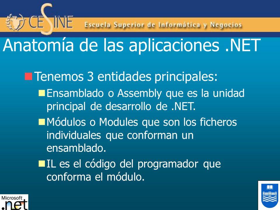 Anatomía de las aplicaciones .NET