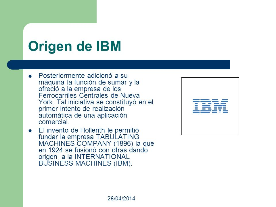 Origen de IBM